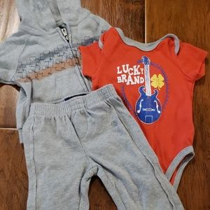 Lucky Brand 3-6M 3 piece outfit